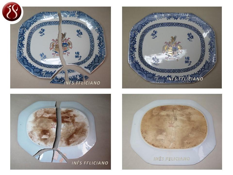 Ficha 622 - Travessa Porcelana