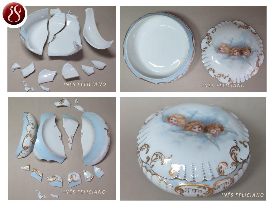 Caixa Porcelana Anjos