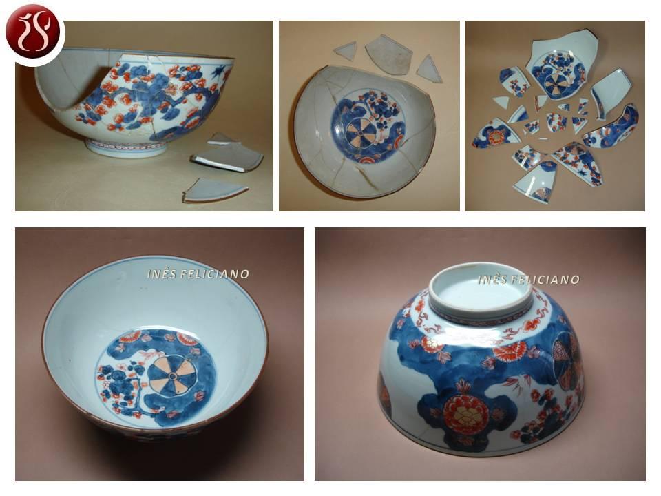 Taça em porcelana oriental 543